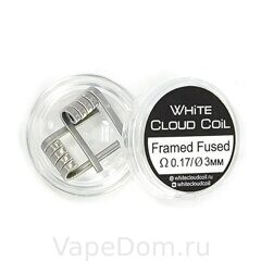 Готовая спираль White Cloud Coil Framed Fused Clapton 0.17 3 2 шт