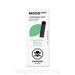 MOOD mini Disposable vapes (Fresh Mint Menthe Fraiche) 1шт