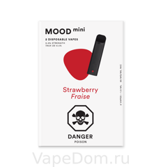 MOOD mini Disposable vapes (Strawberry Fraise) 1шт