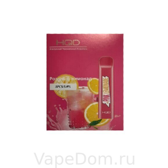 HQD CUVIE  Disposable Pod Pink Lemonade 50мг 1шт.