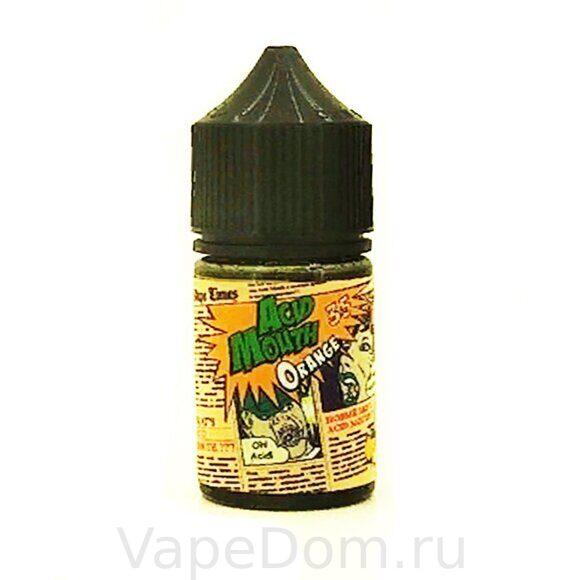 Жидкость Acid Mouth Salt Sour Orange - 50mg 30 ml
