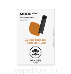 MOOD mini Disposable vapes (Cuban Tobacco Tabac de Cuba)  1шт