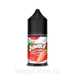Жидкость Jumble Salt Strawberry Milk 30 мл 20мг