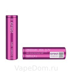 Аккумулятор Efest IMR18650 2600mah 40A with flat top battery