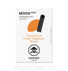 MOOD mini Disposable vapes (Tropical lce Fruits Tropicaux Givres) 1шт
