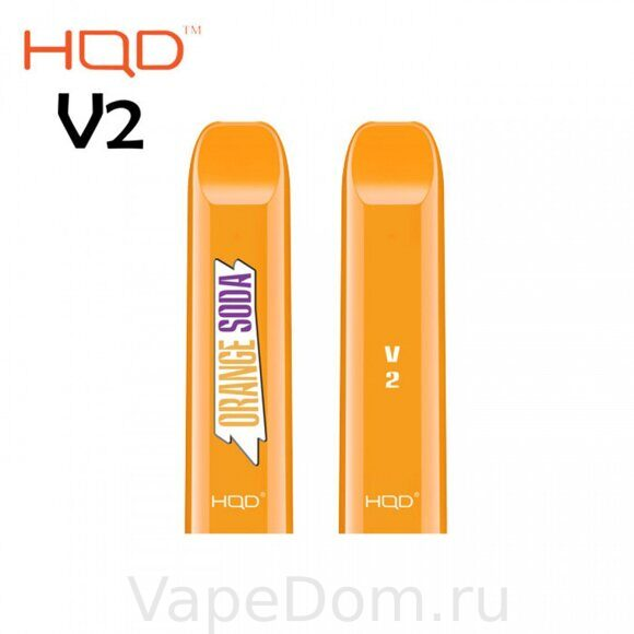 HQD V2 Disposable Pod Device ORANGE SODA 50 мг 1шт.